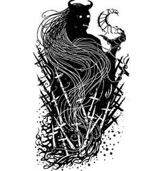 black satan vector image