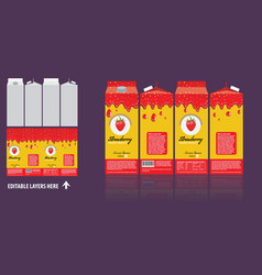 branding package design strawberry juice vector image