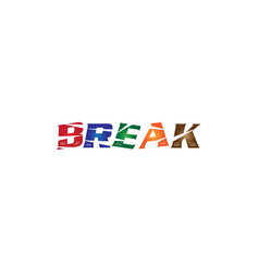 break logo vector image