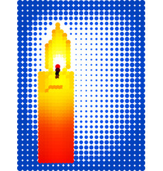 candle pixel icon vector image