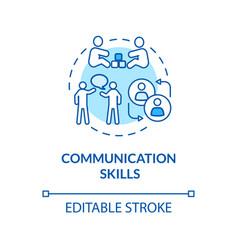 Children communication skills concept icon vector