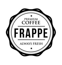 coffee frappe vintage stamp vector image vector image