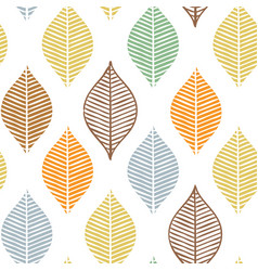 Cute fall leaf seamless pattern abstract vector