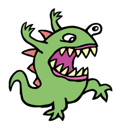 danger cartoon mad germ vector image