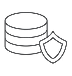 data protection thin line icon privacy and vector image