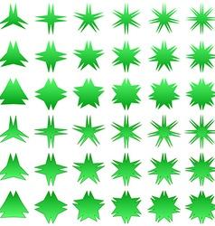 Double peak star symbol set vector image