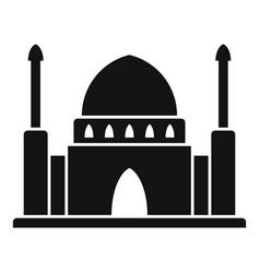 Dubai mosque temple icon simple style vector