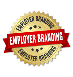 Employer branding round isolated gold badge vector