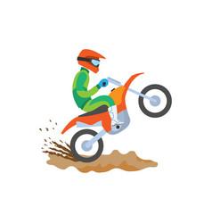 extreme sport motorbike riding postcard vector image