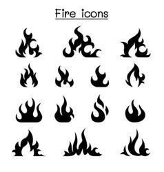 Fire icon set graphic design vector