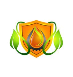 floral logo flower icon emblem cosmetics vector image