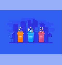 garbage recycling and utilization concept vector image