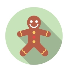 Gingerbread Flat Icon vector image