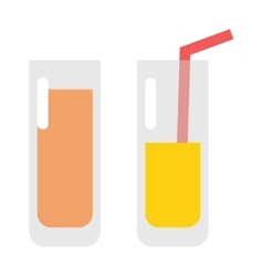 Glass of orange juice fresh drink beverage healthy vector image