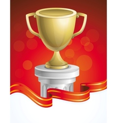 golden cup vector image