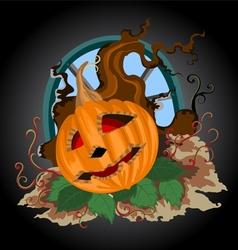 Halloween pumpkin scene vector