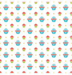 happy birthday seamless pattern design for vector image