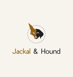 Head jackal and hound logo vector