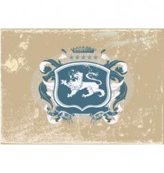 heraldic shield vector image vector image