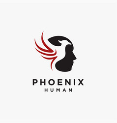 human phoenix logo icon template vector image