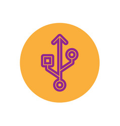 Icon on the topic office on circle vector