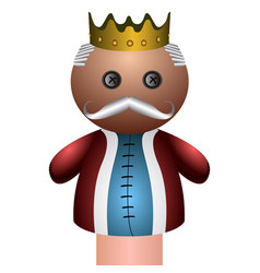Isolated king puppet vector