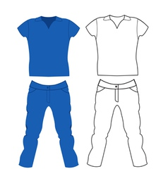 Jeans and T-shirt vector image