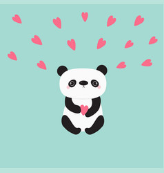 kawaii panda baby bear cute cartoon character vector image