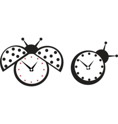 ladybird wall clock vector image