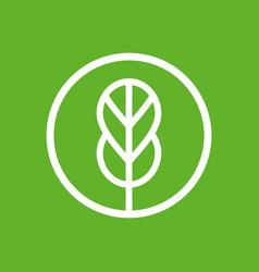 Leaf logo icon design template line art style vector