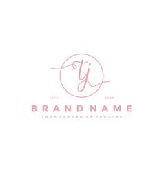 Letter tj feminine logo design vector