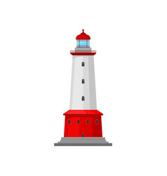 Lighthouse with a wide band vector