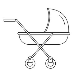 modern baby carriage icon outline style vector image