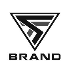 modern triangle creative initial logo concept vector image