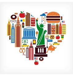 New York love vector image