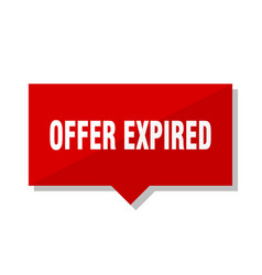 offer expired red tag vector image