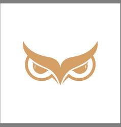 owl wisdom logo design template vector image
