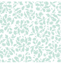 pastel blue folk art floral pattern vector image