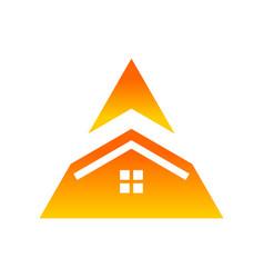 real estate house triangle symbol logo design vector image