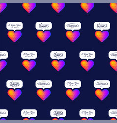 reinbow gradient color heart seamless pattern vector image