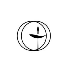 Religion symbol unitarian universalism icon vector