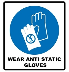 Safety sign Hand protection must be worn vector image