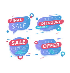 Sale discount stickers final sale and super offer vector