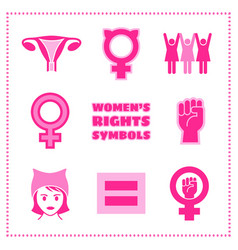set of feminist symbols vector image