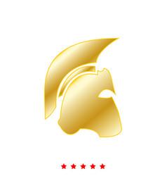 Spartan helmet it is icon vector