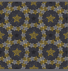 Stars doodle seamless pattern childish fashion vector
