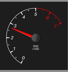 Tachometer black vehicle gauge scale vector