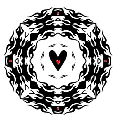 Template for tattoo and design in the form of the vector image