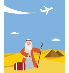 Time for passover vacation in Hebrew moses with vector