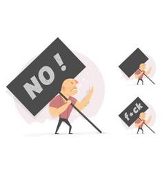 Tough objection middle finger activist vector